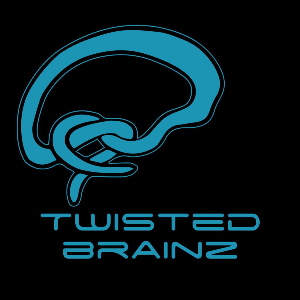 Twisted BrainZ logo in a circle
